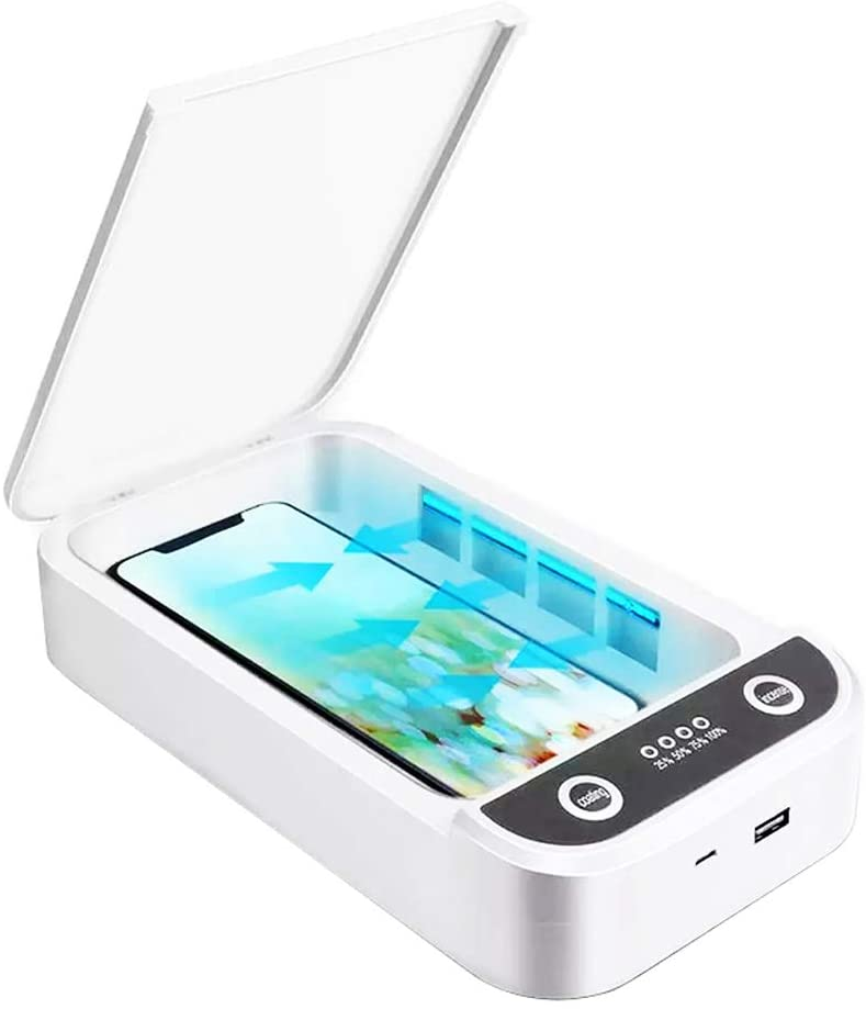 Mobile Portable UVc Light Phone Sterilizer Aromatherapy Function Power Bank UV Phone St (1)